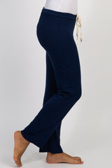 PinkBlush Navy Blue Drawstring Pajama Pants