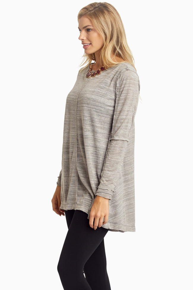 Grey Scoop Back Tunic
