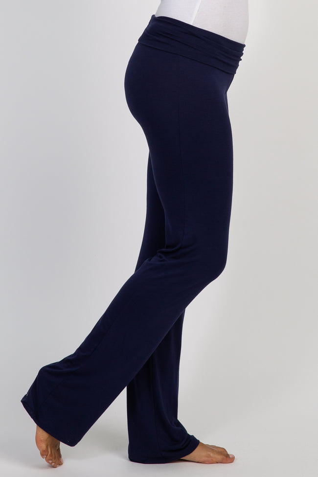 Navy Long Yoga Pant