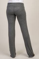 Charcoal Long Maternity Yoga Pant