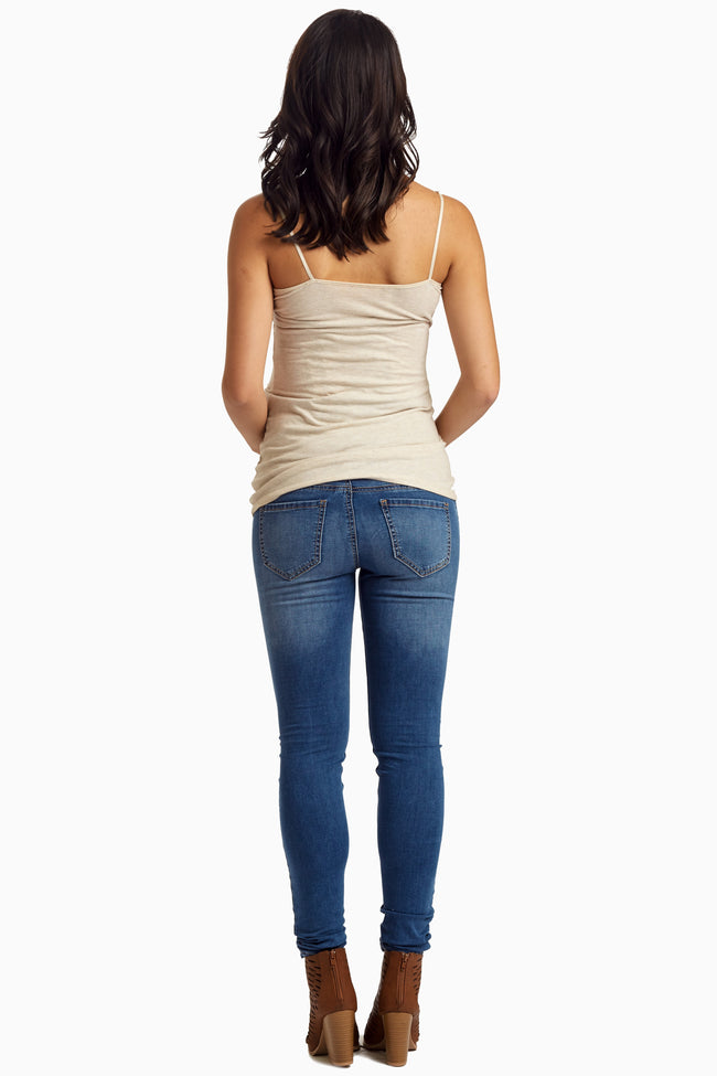 Blue Medium Wash Skinny Jeans