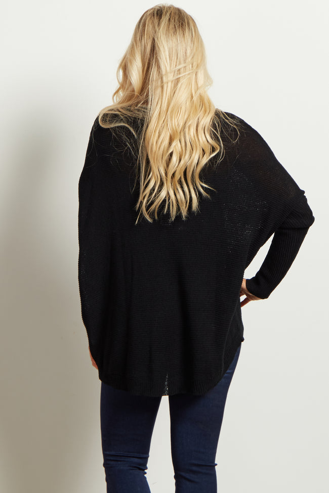 Black Long Sleeve Matenity Sweater