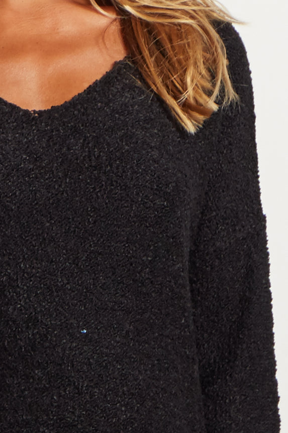 Black Long Sleeve Maternity Sweater