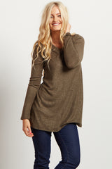 Olive Soft Knit Top