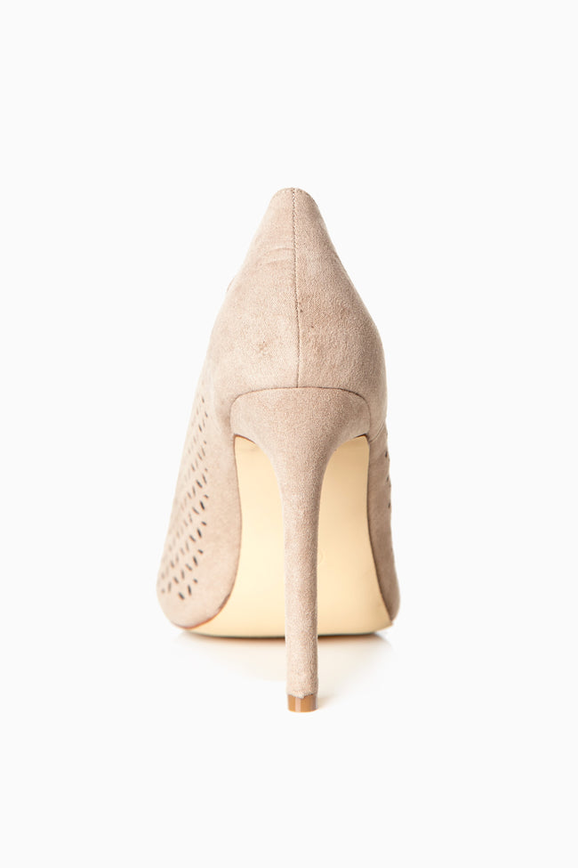 Taupe Cutout Suede Heel