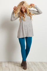 Dark Teal Fleece Lined Leggings