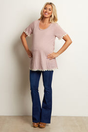 Blue Maternity Flared Jeans