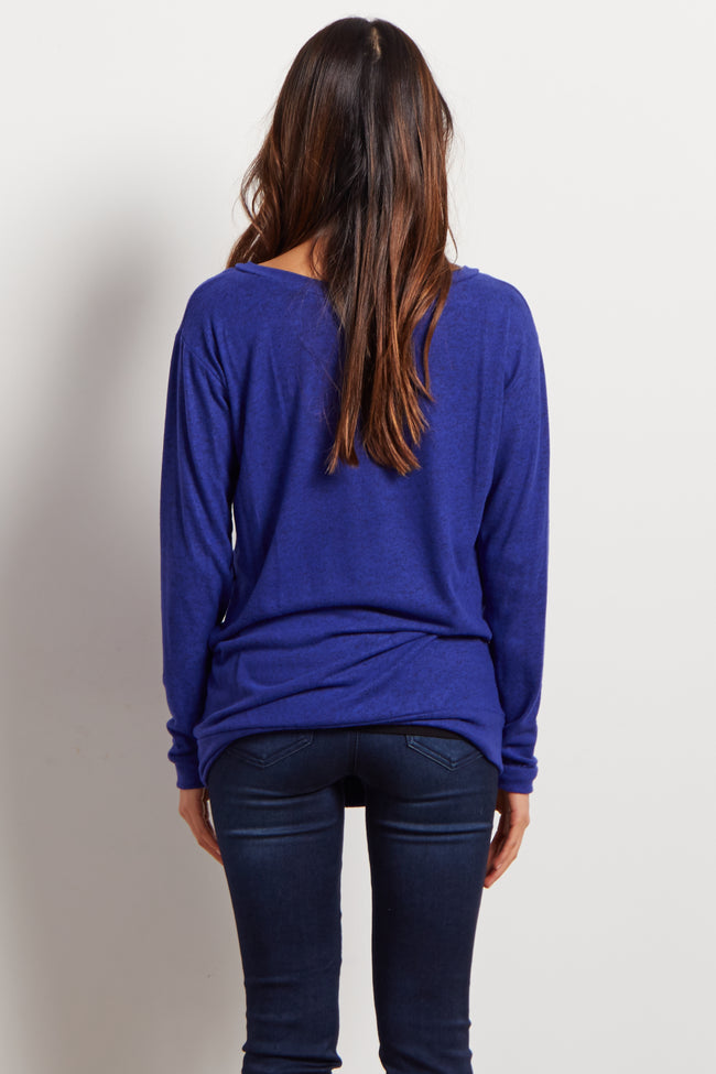 Royal Soft Knit V Neck Maternity Top