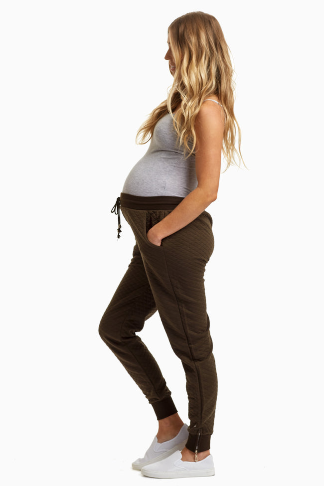 Quilted Maternity Jogger
