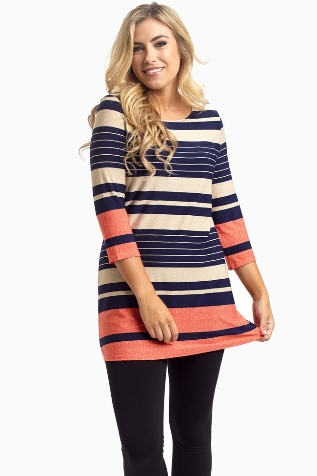 Multi-Color Striped Tunic