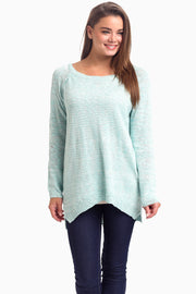 Light Blue Knit Tie Back Maternity Sweater