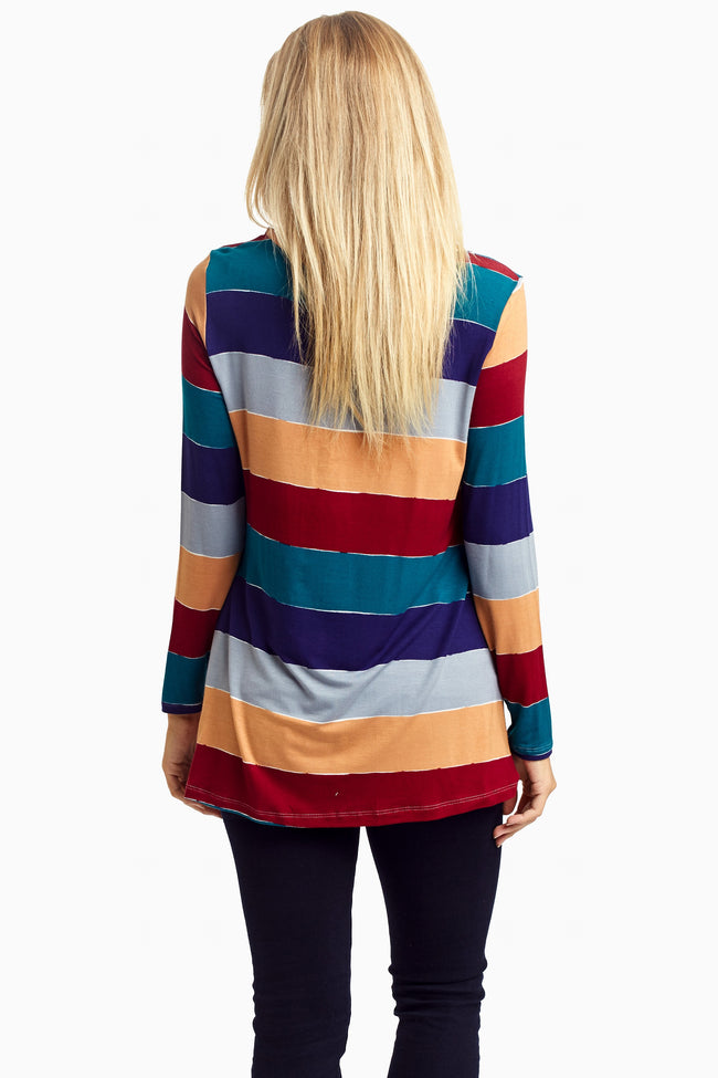 Multi-Color Striped Long Sleeve Top