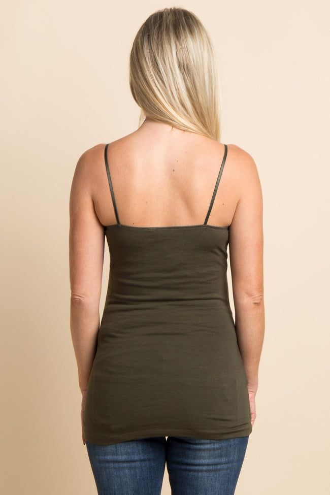 Olive Green Maternity Cami