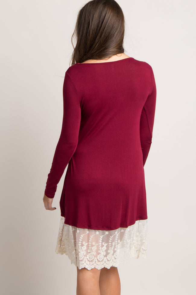Burgundy Lace Trim Dess