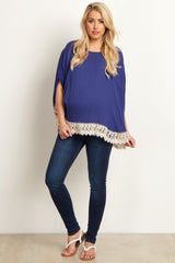 Navy Blue Basic Stretch Maternity Skinny Jeans