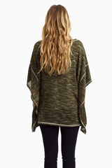 Olive Poncho Maternity Top