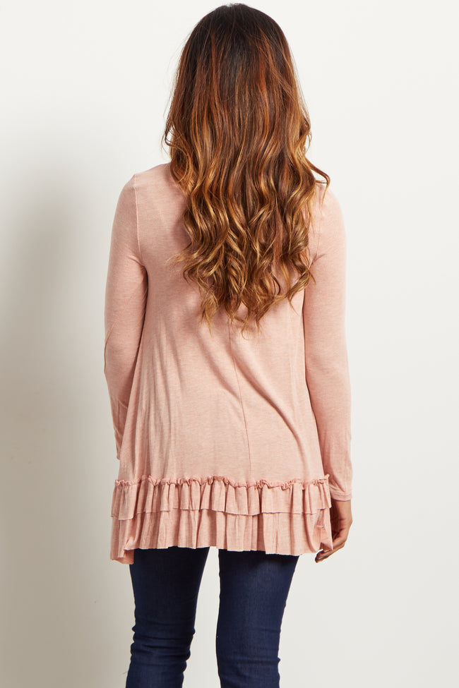 Rust Ruffled Trim Top