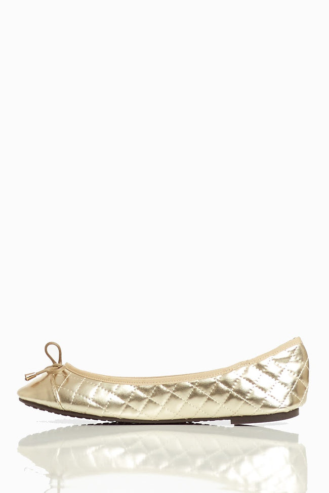 Gold Metallic Quilted Flat