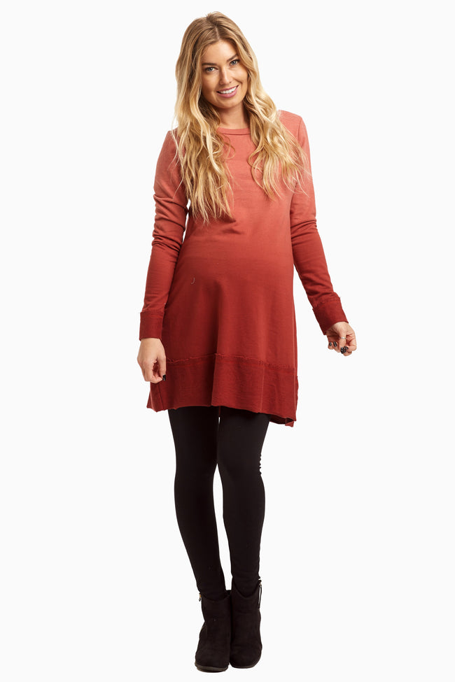 Rust Ombre Knit Maternity Dress/Tunic