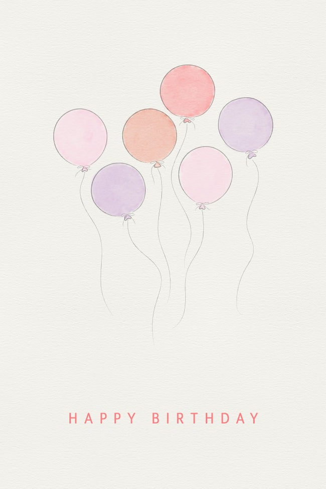 PinkBlush Birthday Balloons Email Gift Card