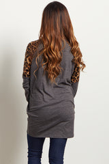 Charcoal Animal Shoulder Top