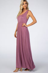 PinkBlush Mauve Basic Sleeveless Maxi Dress