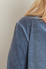 Navy Blue Layered Detail Maternity Sweater Top