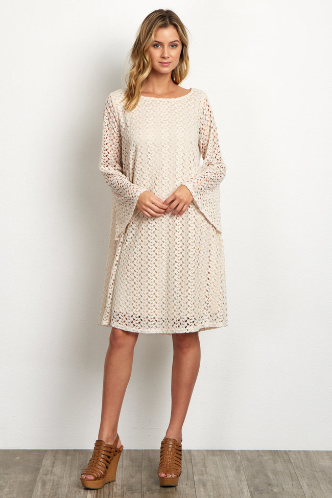 Maternity Fitted Bell Sleeve Dress W//Ruchee Details about  /My Bump Maternty Bell Sleeve Dress