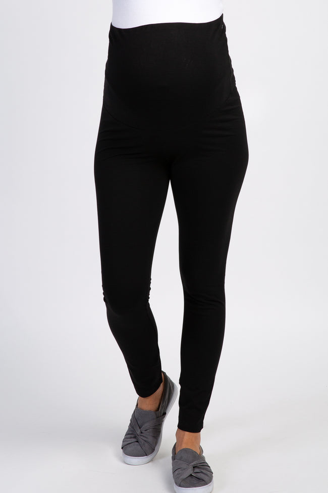 Black Basic Over Belly Maternity Leggings