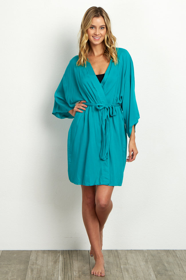 Jade Solid Delivery/Nursing Maternity Robe