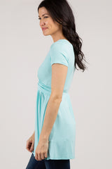 PinkBlush Mint Draped Front Nursing Top