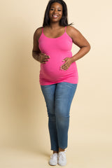 Pink Plus Size Maternity Cami