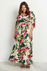 Ivory Tropical Plus Maxi Dress