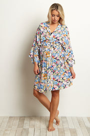 Multi-Color Floral Delivery/Nursing Maternity Robe