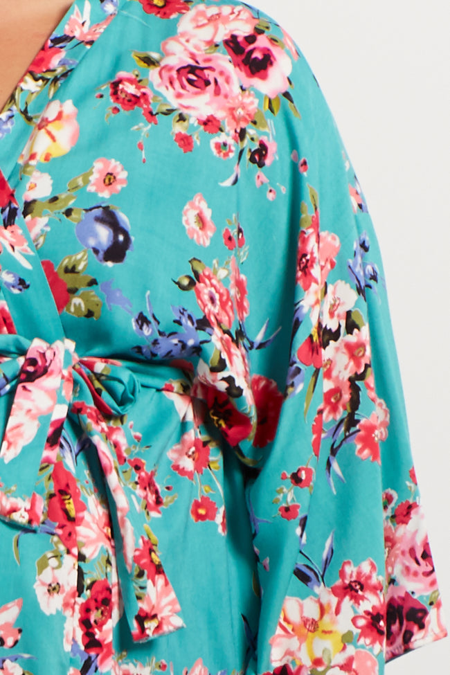 Jade Floral Delivery/Nursing Plus Maternity Robe
