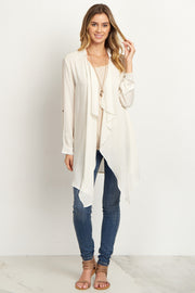 Ivory Lace Accent Cardigan