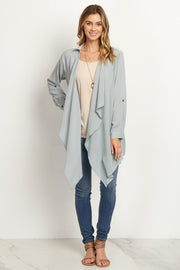 Grey Lace Accent Cardigan