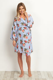 Blue Rose Delivery/Nursing Maternity Robe