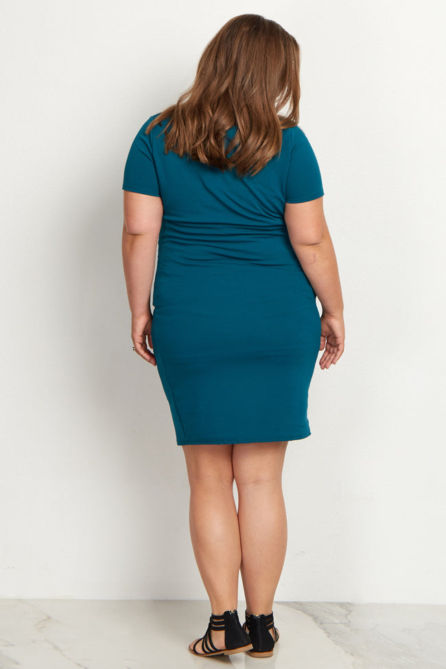 Jade Fitted Plus Maternity Dress