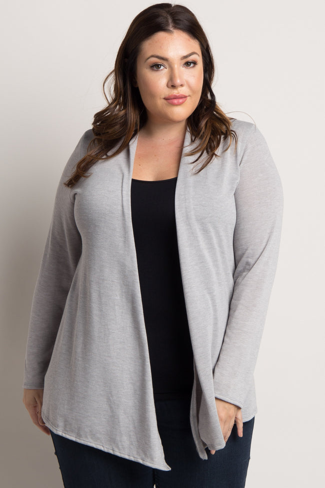 Grey Basic Plus Cardigan