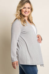 Grey Basic Plus Maternity Cardigan