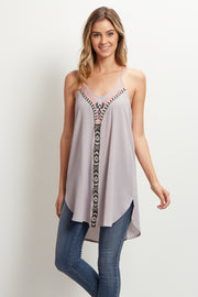 Taupe Tribal Tunic