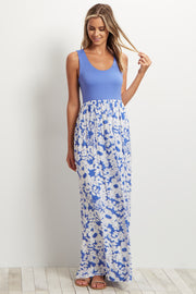 Blue Floral Bottom Maxi Dress