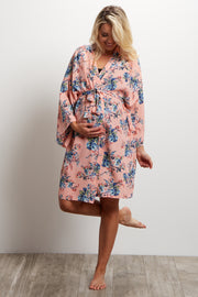 Peach Rose Delivery/Nursing Maternity Robe