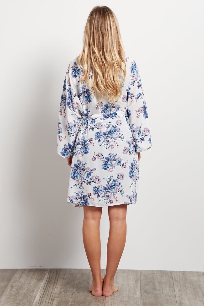 White Rose Delivery/Nursing Maternity Robe