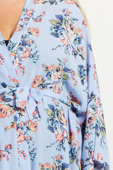 Blue Rose Plus Size Delivery/Nursing Maternity Robe