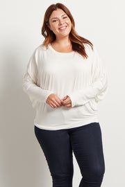 Ivory Long Dolman Sleeve Plus Size Top