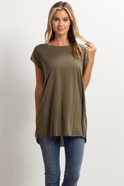 Olive Green Short Sleeve Top