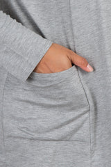 PinkBlush Grey Front Pocket Maternity Plus Cardigan