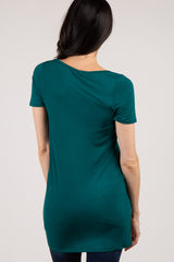 Green Basic Short Sleeve Tee